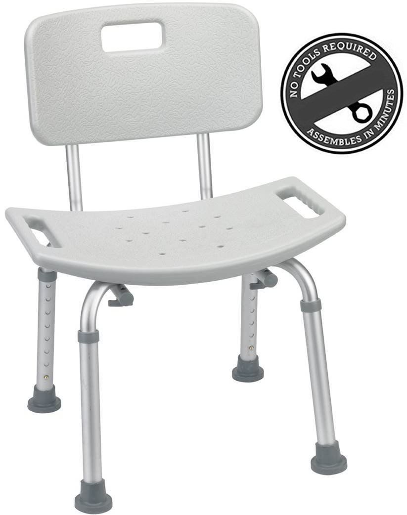 Medical Tool-Free Assembly Spa Bathtub Adjustable Shower Chair Seat ...