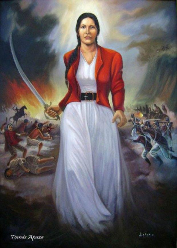 Teniente Coronel Juana Azurduy de Padilla recibe hoy su homenaje por parte de…