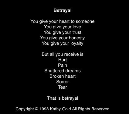 betrayal | Betrayal quotes, Poems about lies, Love quotes