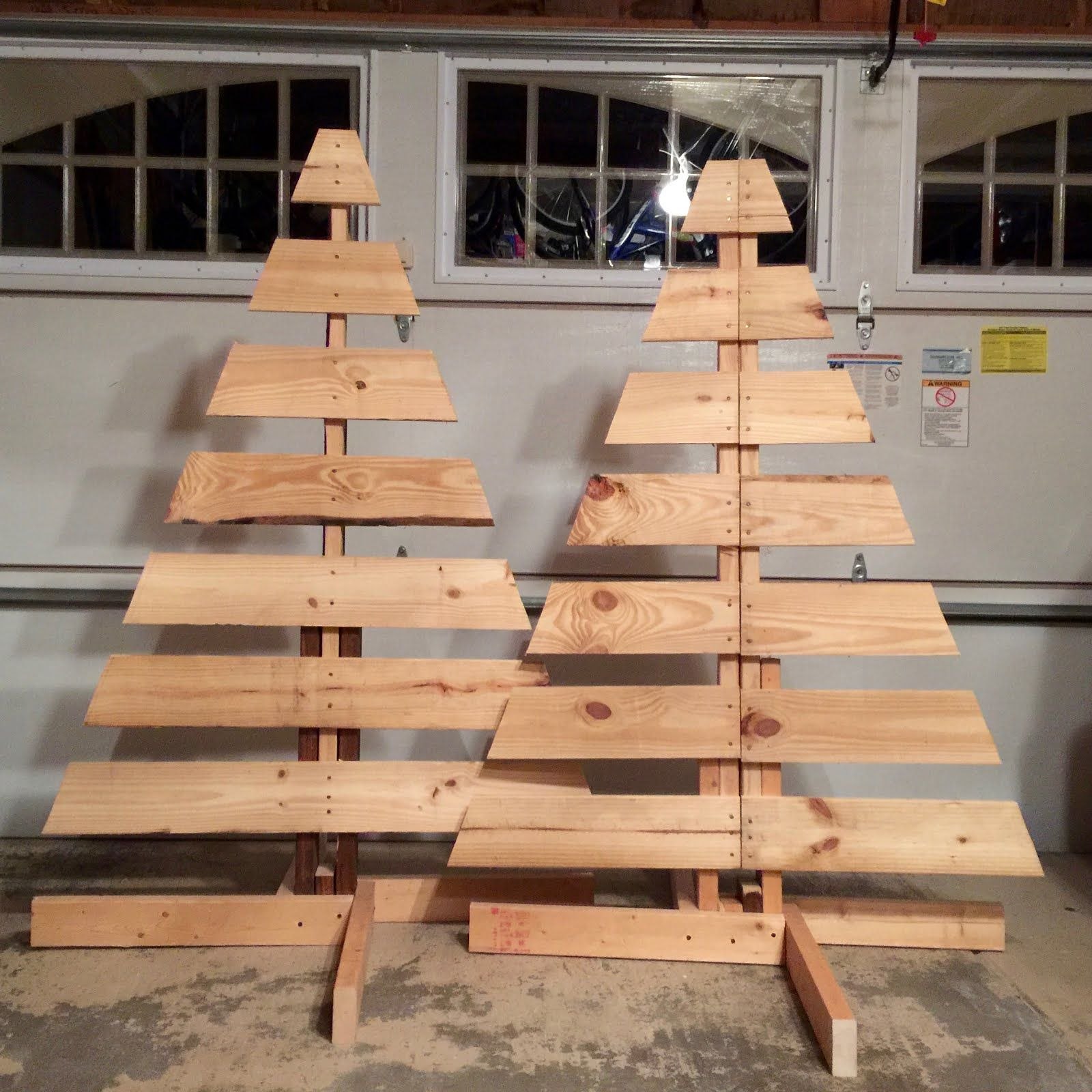 How To Make Two Christmas Trees From One Wooden Pallet Live Love Laugh Blog Pallet Wood Christmas Tree Wooden Pallet Christmas Tree Pallet Wood Christmas