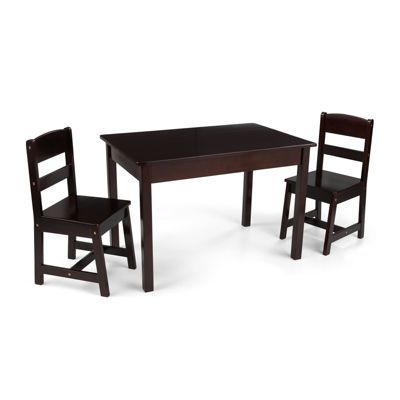Outstanding Kidkraft Avalon Rectangle Table And 2 Chairs Set Espresso Gmtry Best Dining Table And Chair Ideas Images Gmtryco