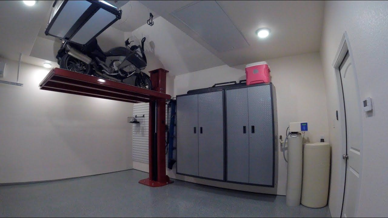 Motorcycle Lift Garage Project Motorcycle Storage Lift And The
