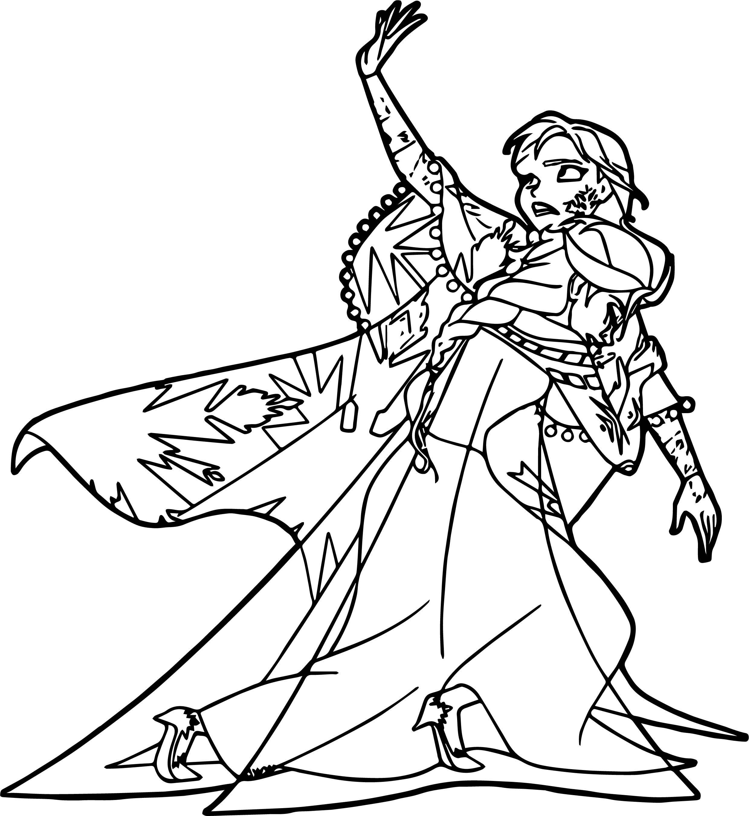 nice Anna Elsa Frozen No Please Coloring Page   Ariel ...