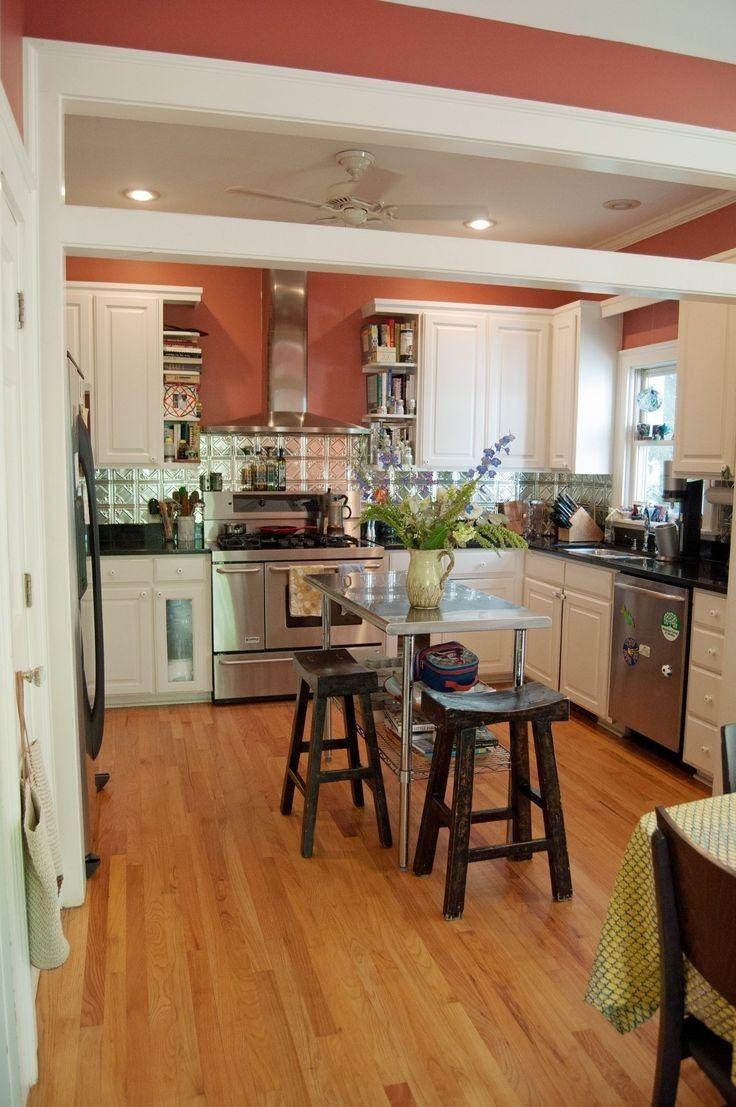 Pin By Grace Murphy On Kitchen In 2020 Orange Kitchen Walls Kitchen Colors Kitchen Remodel
