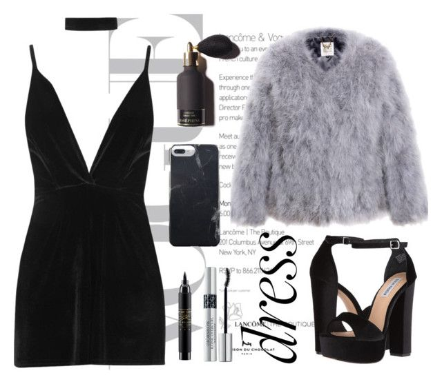 """""""Choker dress🏴"""" by molldollc ❤ liked on Polyvore featuring Boohoo, Steve Madden, MAC Cosmetics and Christian Dior"""