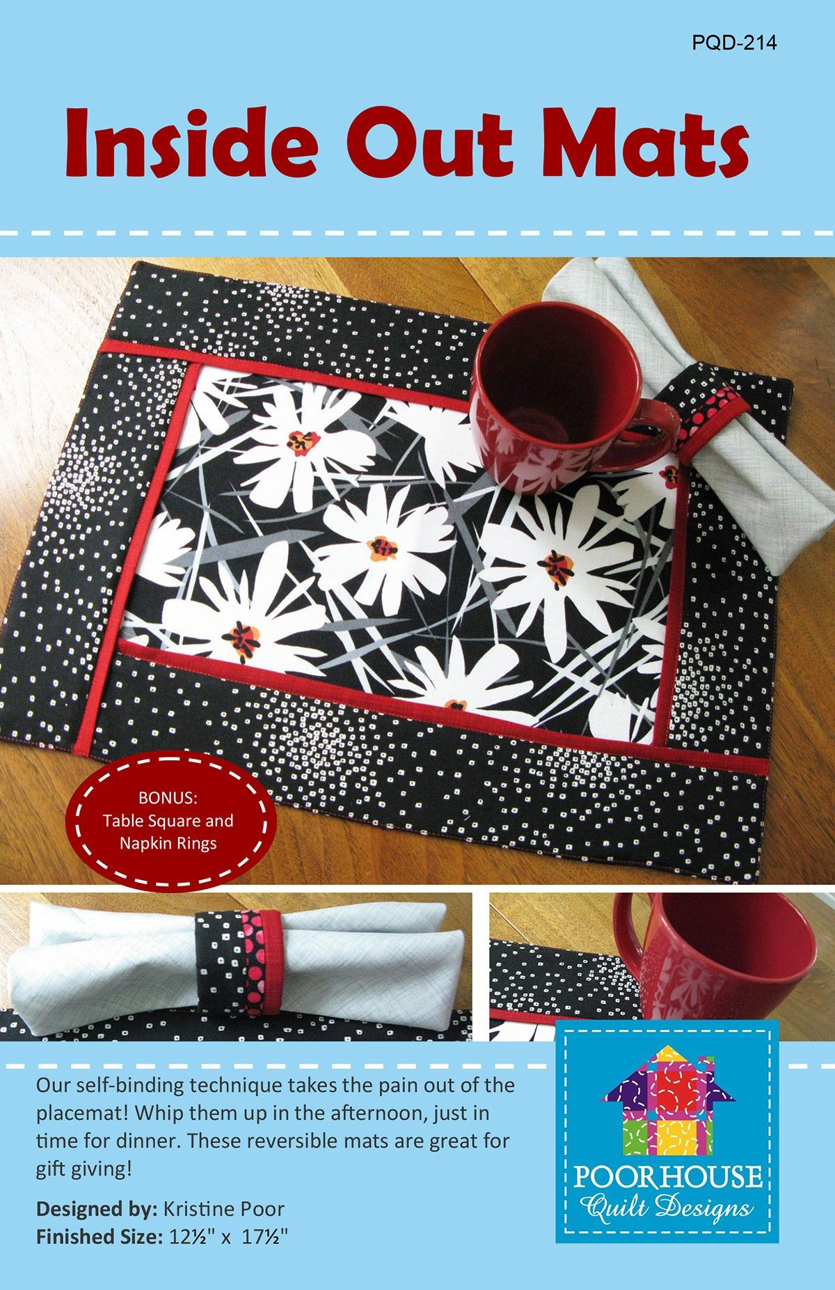 Inside Out Mats By Poor Kristine Placemats Patterns Quilting Designs Crochet Placemat Patterns