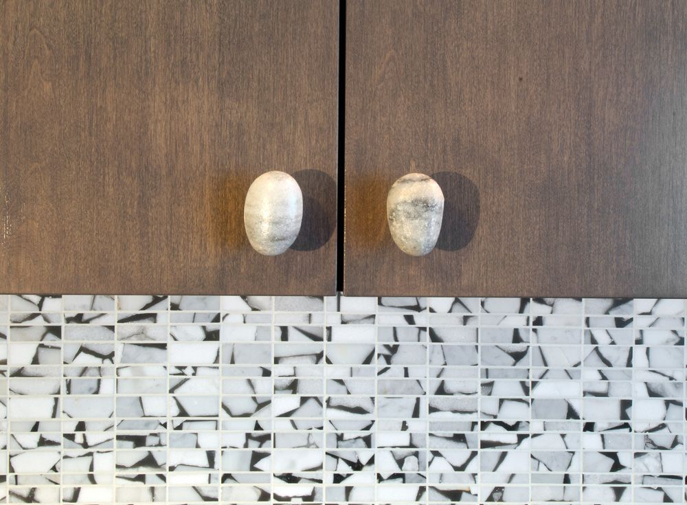 Stone Cabinet Pulls in Seattle Condo Remodel | Hammer & Hand ...