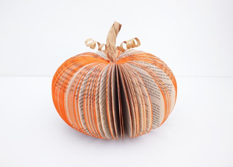 Pumpkin decoration Halloween Decor Book pumpkin