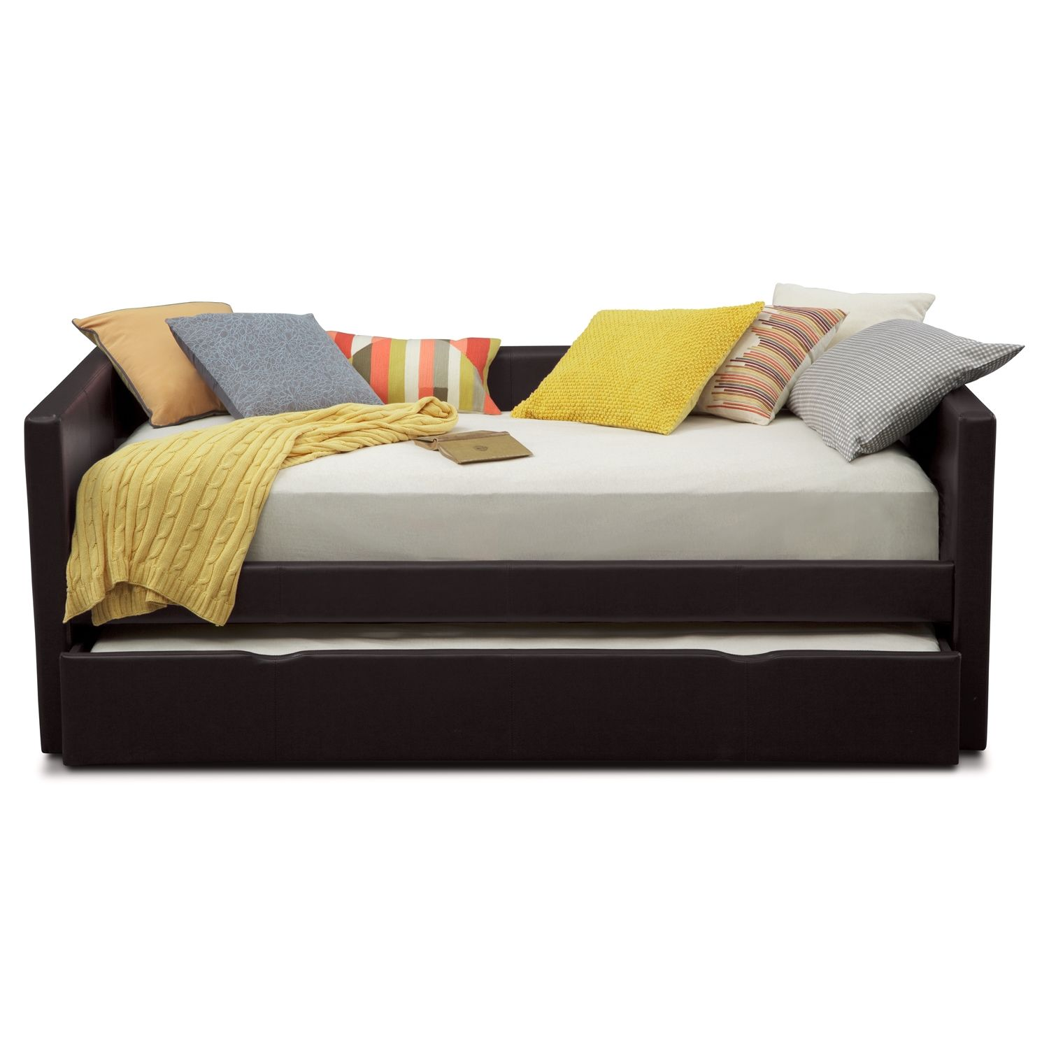 Daybed with trundle full size carey iii twin daybed with trundle  value city furniture