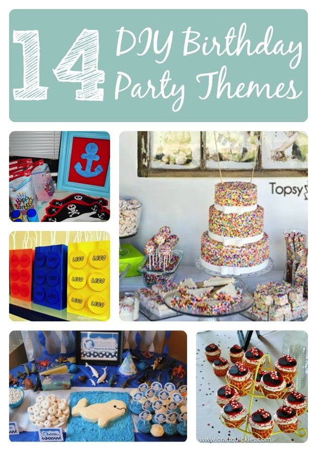 14 Awesome Kid Birthday Party Themes Diy Kids Birthday Party
