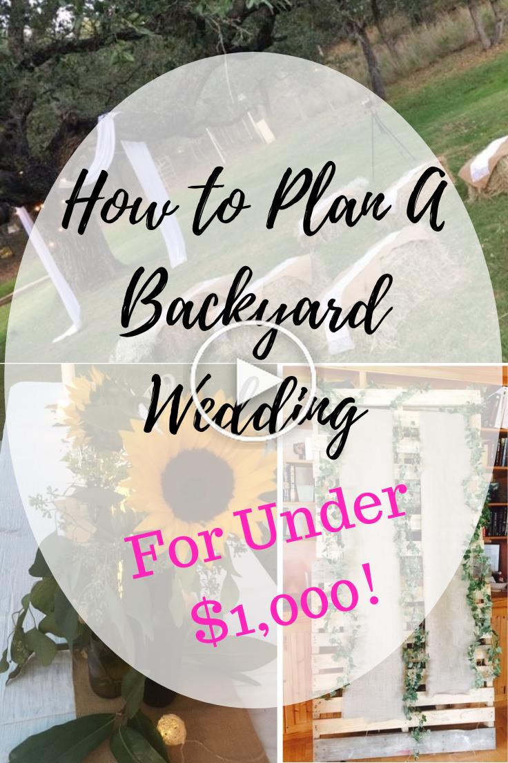 How To Plan A Backyard Wedding (voor minder dan $ 1.000 ...