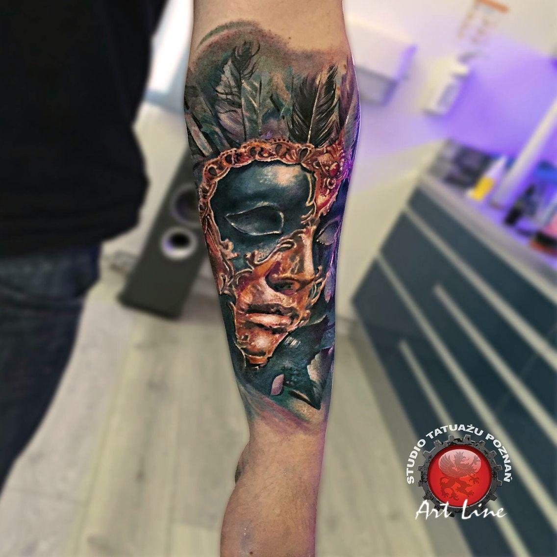 Mask Tattoo Artist Dominik Szymkowiak Artline Studio Www