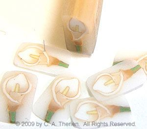 Calla Lily Fimo Nail Art - Love this! Wish I could Find it