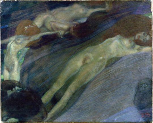 Sostamento di acqua di Gustav Klimt