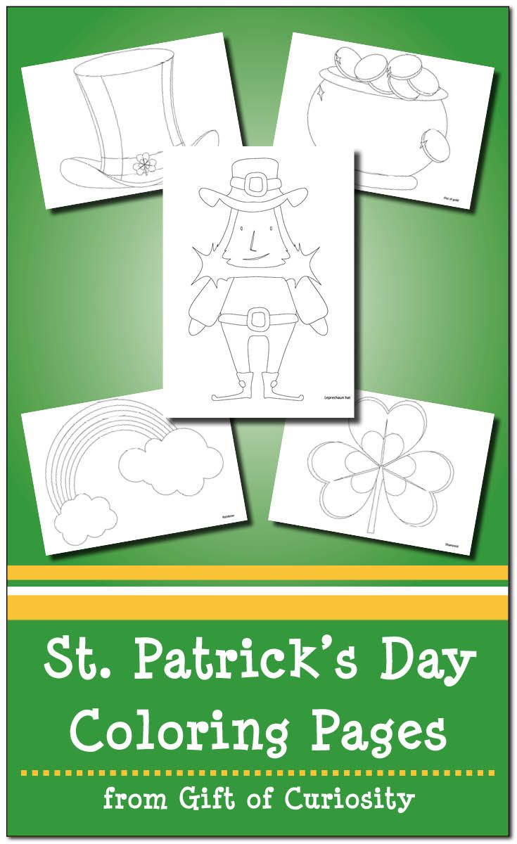St. Patrick\'s Day Coloring Pages   Saints, Gift and Free