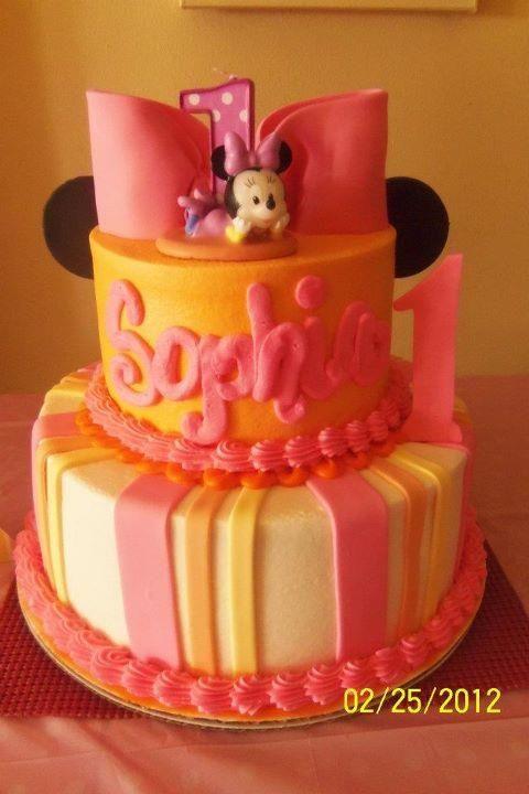 Baby Minnie Mouse 1st Birthday Cake Ideas Cake Recipe