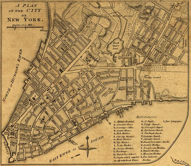 Map Of New York 1776.1776 Historic Map Of New York Nyc Untapped Cities Maps In 2019