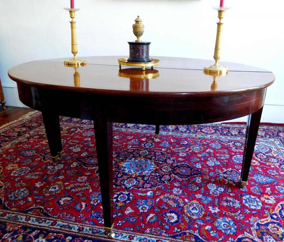 tres grande table de salle manger en acajou poque empire gslr antiques proantic
