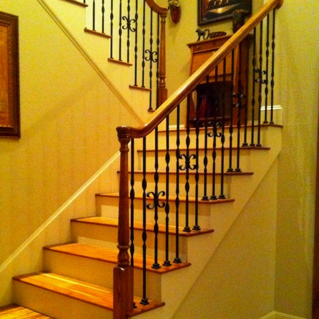 Best Wrought Iron Balusters Alder Handrail And Treads 400 x 300