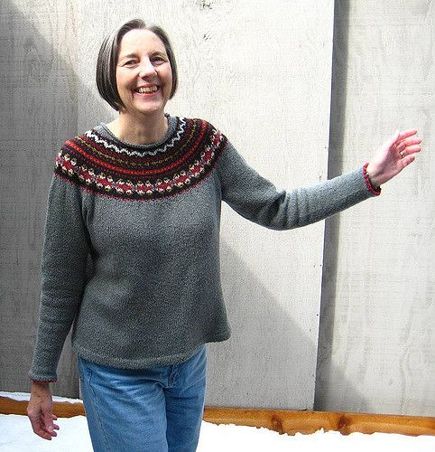 Ravelry: Fair Isle Yoke Cardigan pattern by Elizabeth Zimmermann ...