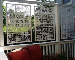 From acuriolattice privacy screen white chinese 2 room for Hanging privacy screens for decks
