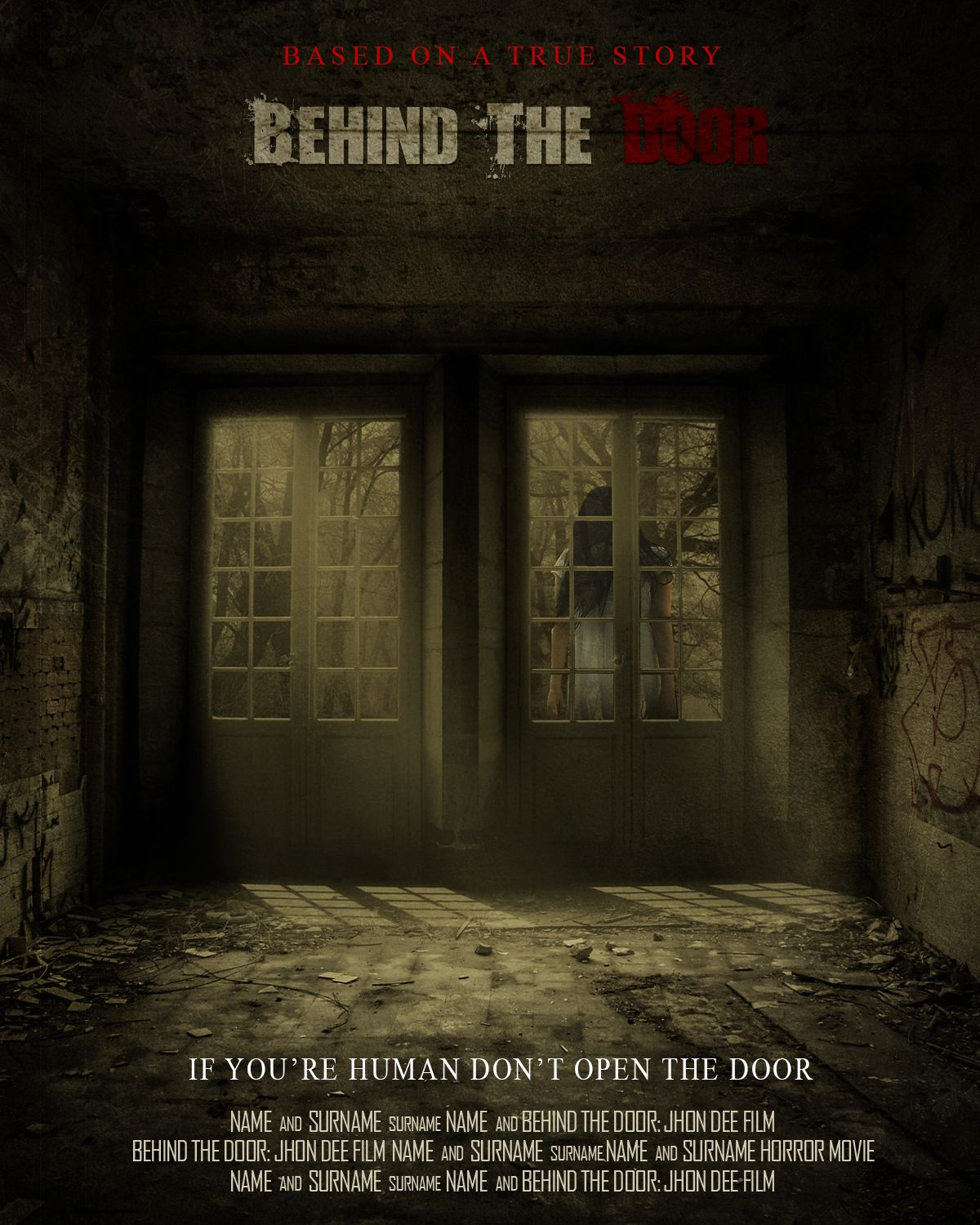 Create A Behind The Door Horror Movie Poster In Photoshop Movie Posters Horror Movie Posters Horror Movies