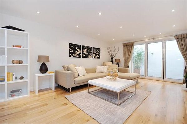Luxury House Refurbished Decorating In London White Lounge Room Design