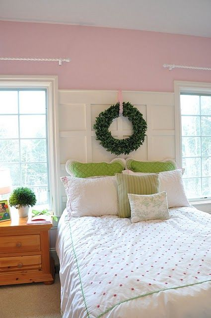 Board and batten instead of a headboard for the home - What to use instead of a headboard ...
