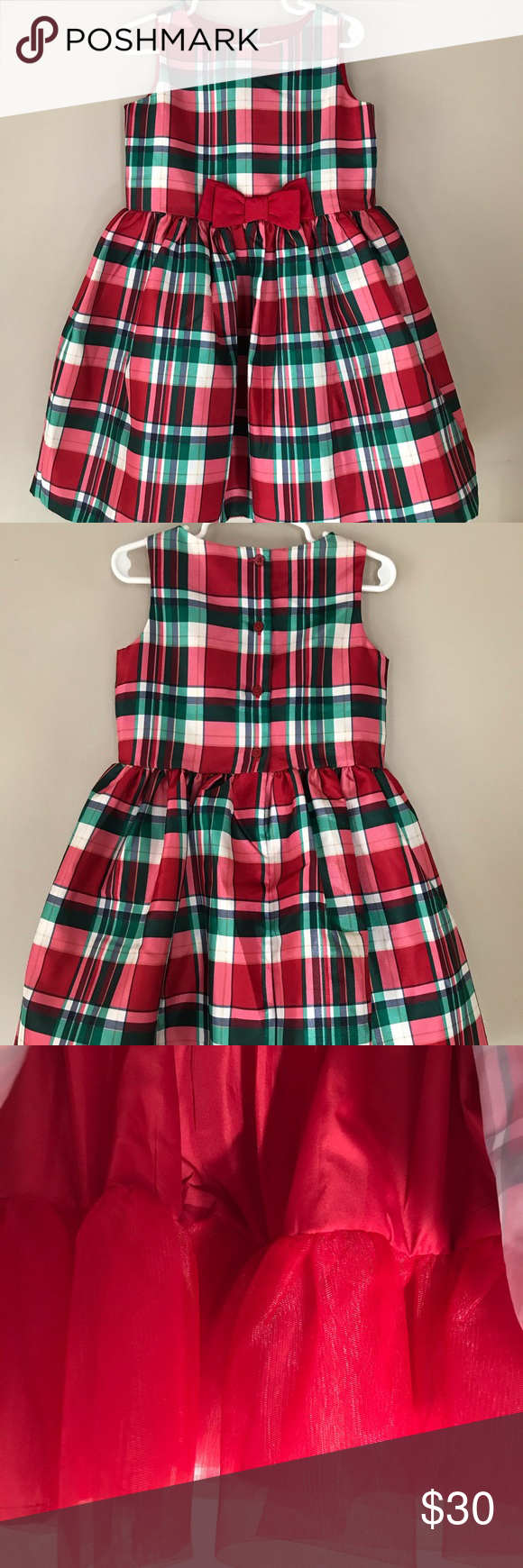 Nwot Beautiful Gymboree Holiday Dress Red White Green Plaid Dress With A Red Tulle Petticoat Underneath Gymboree Dr Green Plaid Dress Holiday Dresses Dresses [ 1740 x 580 Pixel ]
