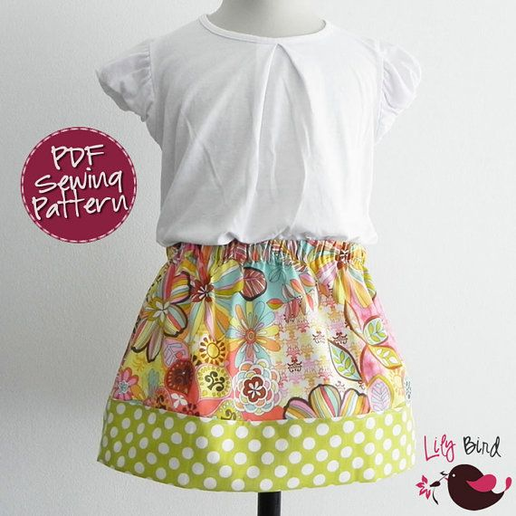 Cute and Simple 30 minutes Skirt - 6 to 12 Years - easy sew ...