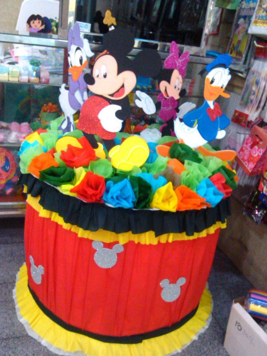 Pi ata tambor mickey la casa de mickey gael pinterest - Ideas para fiestas infantiles en casa ...