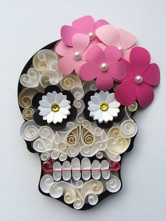 Calavera Mexicana Trabajos manuales Pinterest Dia de Los