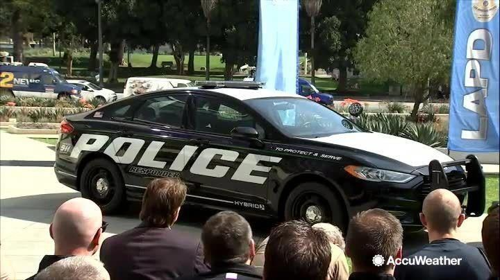 New Ford Fusion Hybrids Were Unveiled At The Lapd Headquarters On