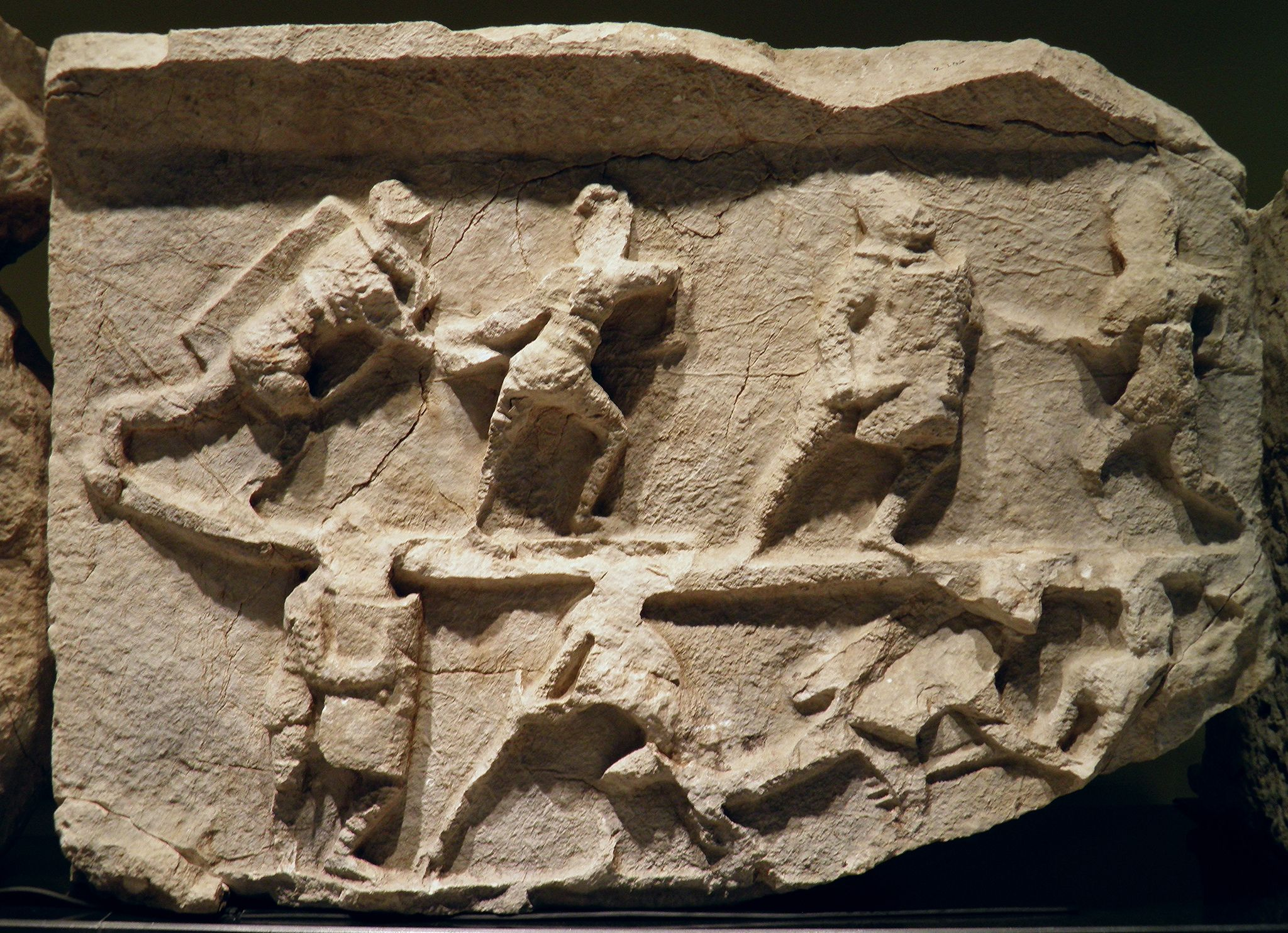 https://flic.kr/p/eaR3fD   Frieze with gladiator figures, 2nd - 3rd century AD, from the necropolis at Kibyra, Burdur Museum
