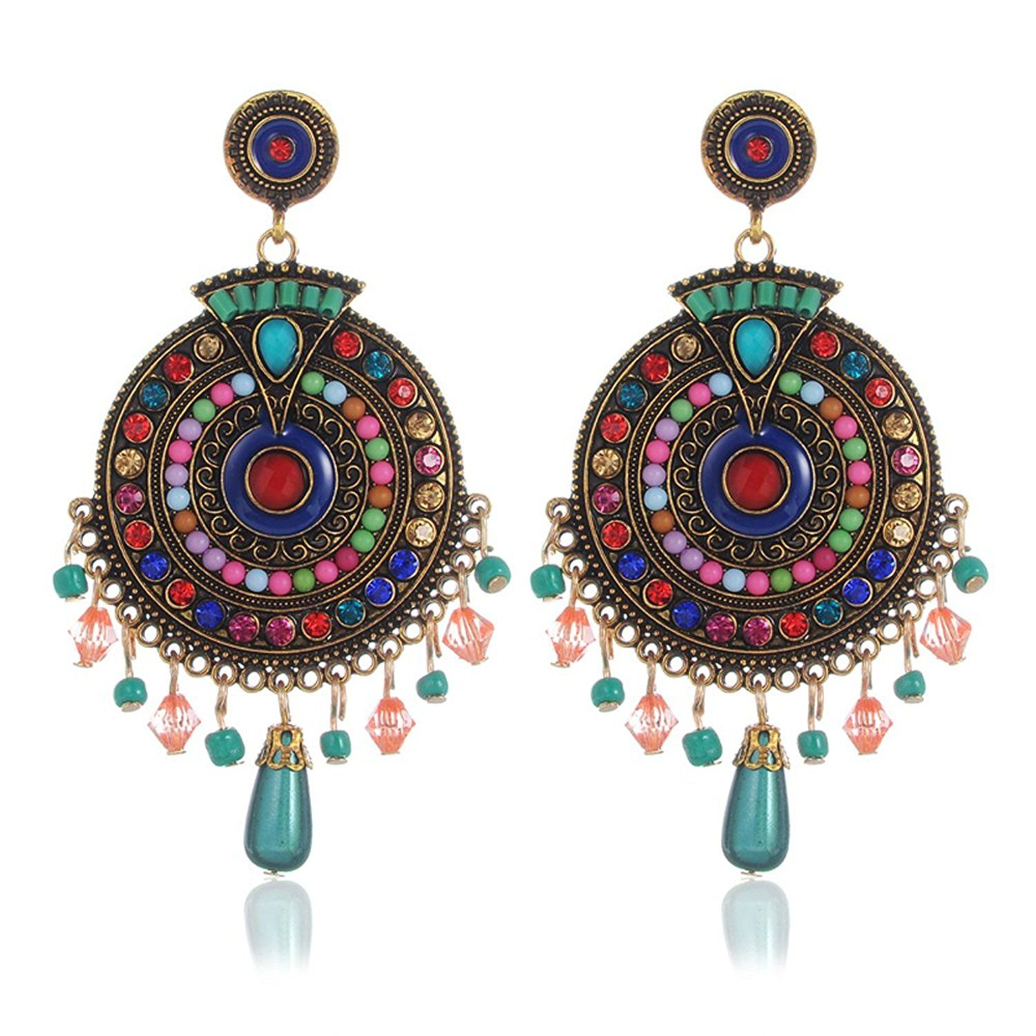 Ethnic Multi-color Zinc Chandbali Earring And Maang Tikka For Women And Girls Discounts Sale Hair & Head Jewelry