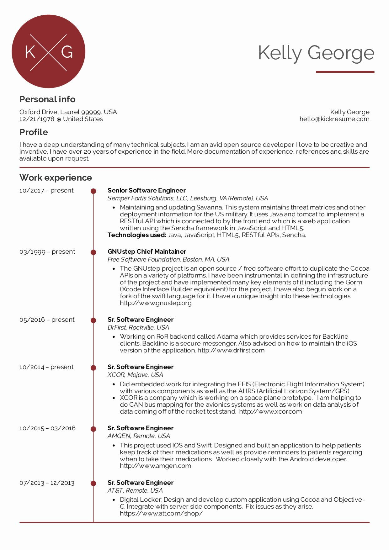Software Engineering Resume Template Beautiful Resume Examples By Real People Senior Software Engineer Softwareengineer Software Engineering Resume Template Be