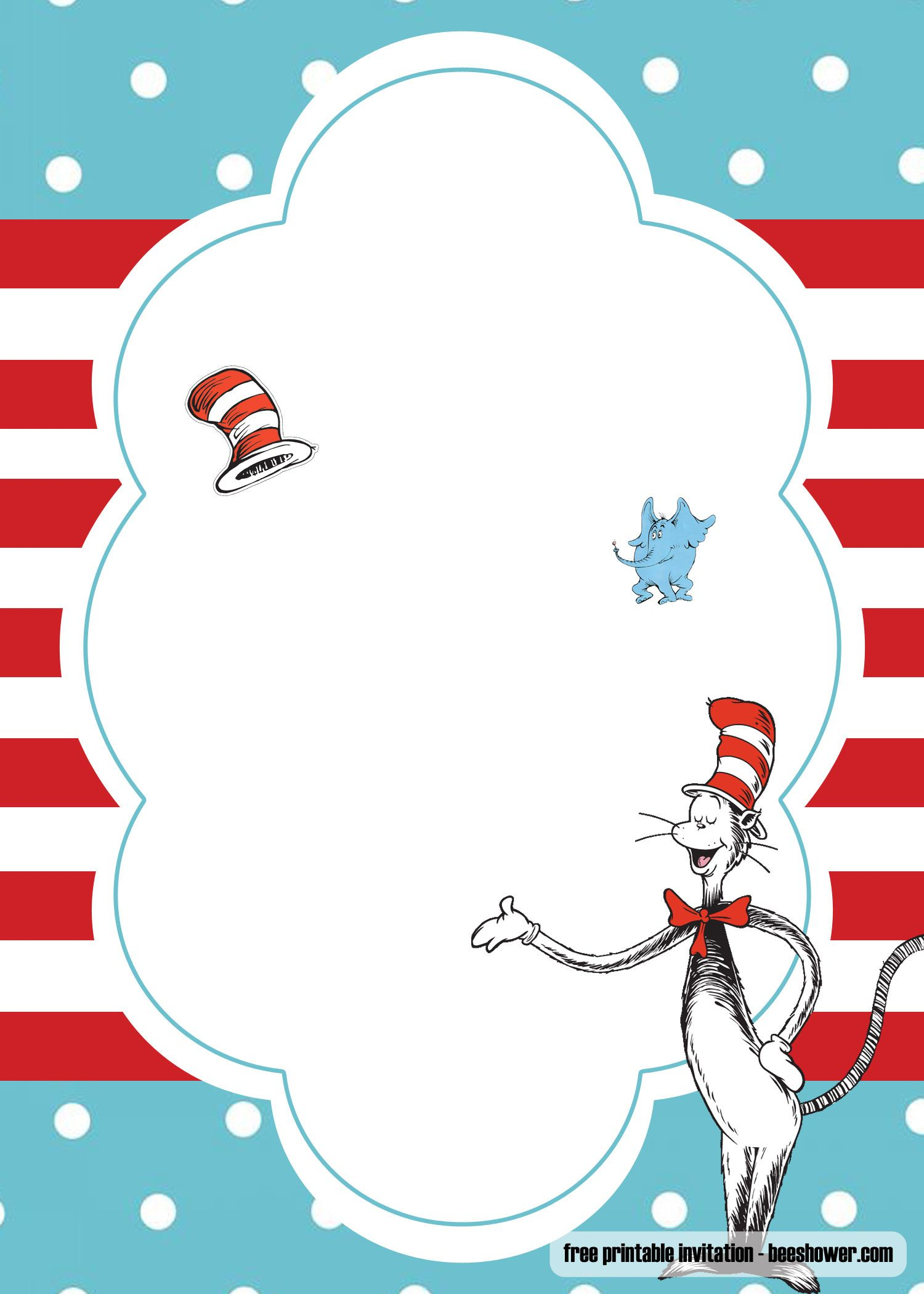 Free Dr Seuss Template For Your Baby Shower Invitations Dr Seuss Invitations Dr Seuss Baby Shower Dr Seuss Baby Shower Invitations