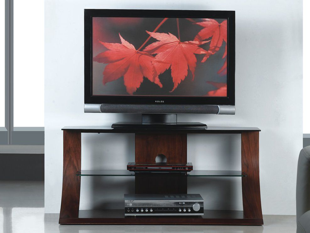 Jual Furnishings Curved Wood Walnut TV Stand   Great For Making A Statement  And Adding Quality Design To Your Home, Our Curved Walnut TV Stand Combines  ...