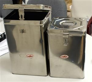 Stainless Steel Storage Container 2pcs Square Shaped Good For Storing Dry Items Such As Rice Lentils Dal Steel Storage Containers Storage Containers Storage