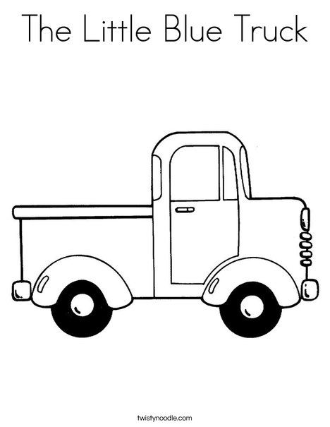 The Little Blue Truck Coloring Page Twisty Noodle Truck