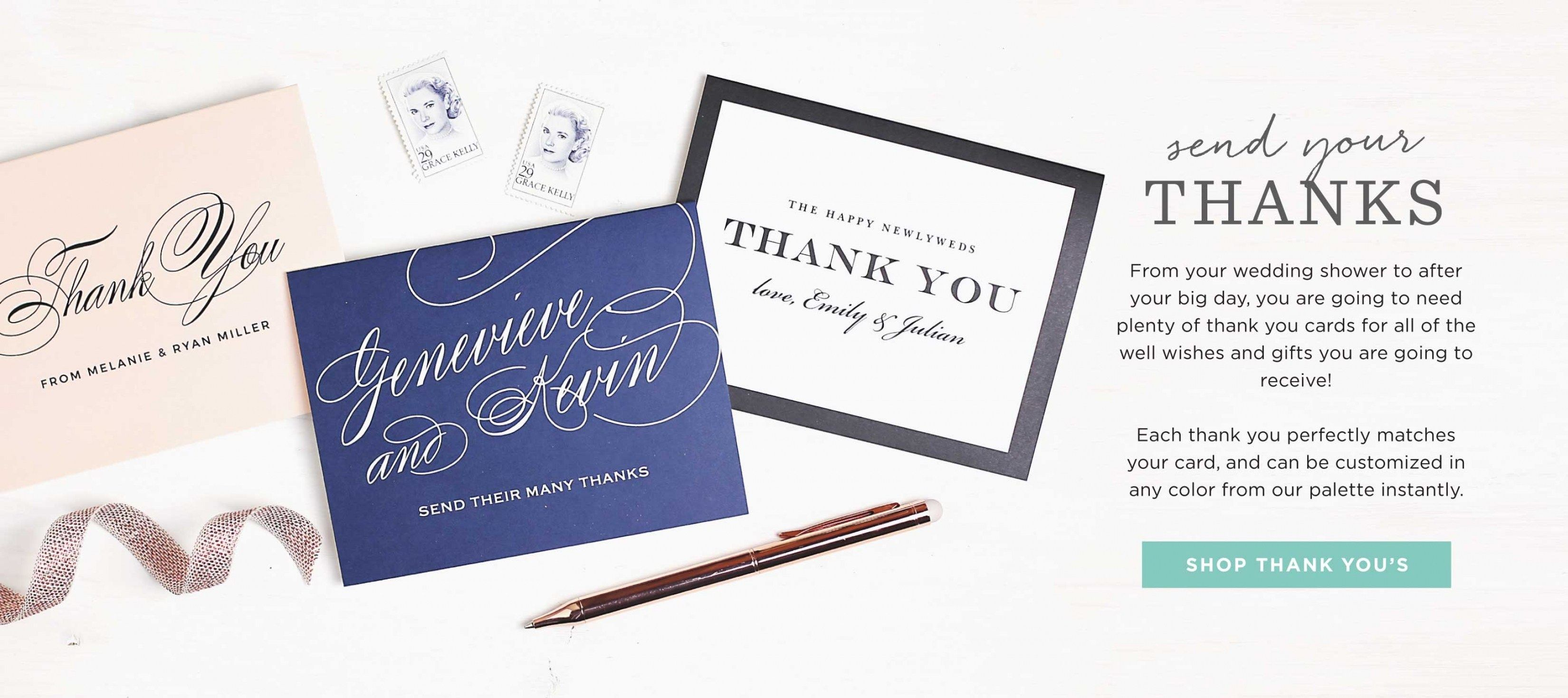 30 beautiful wedding shower thank you cards wedding invitation 30 beautiful wedding shower thank you cards monicamarmolfo Images