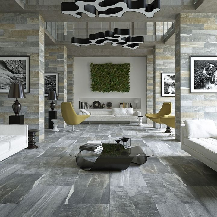 Santorini Grey Stone Effect Tiles Have A High Colour And Pattern Variation To Reflect The Characteristics
