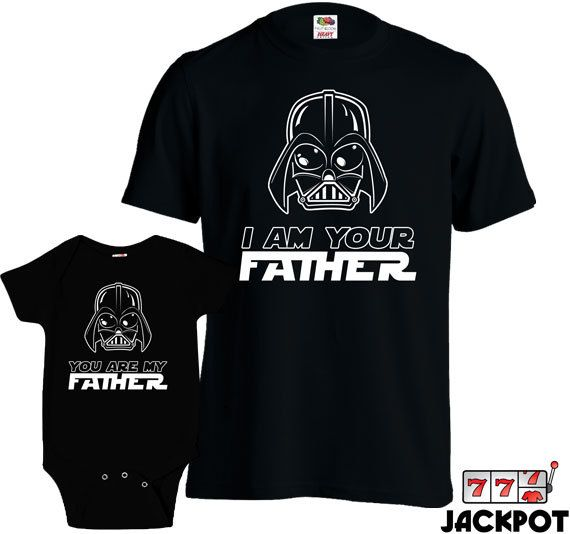 Star Wars Darth Vader I Am Your Father Text Father/'s Day Black Men/'s T-Shirt New