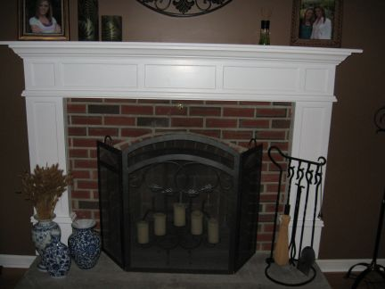 Fireplace Mantel On Brick New Family Room Fireplace