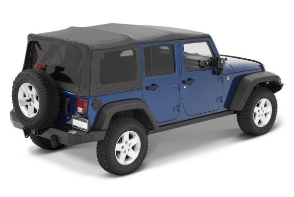 2007 2016 jeep wrangler unlimited bestop supertop nx soft top with tinted windows in black. Black Bedroom Furniture Sets. Home Design Ideas