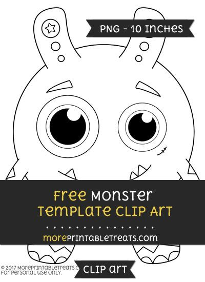 Free Monster Template  Clipart  Free Clipart Files