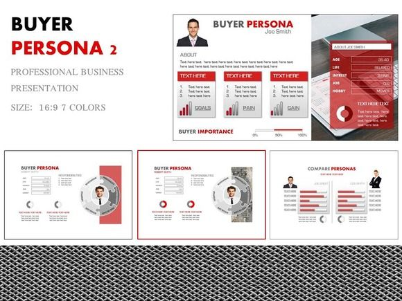 buyer persona 2 powerpointyes presentations on creative market, Presentation templates
