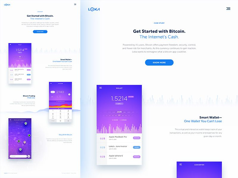 Bitcoin Concept A Case Study  Template App And Ui Ux