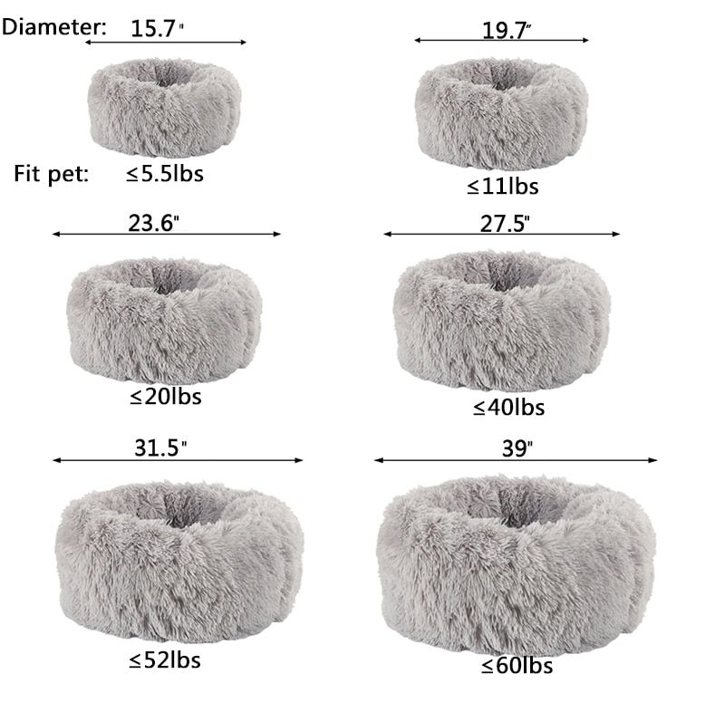 Comfy Calming Dog Beds For Large Medium Small Dogs Puppy Labrador Amazingly Cat Marshmallow Bed Washable Plush Pet Bed In 2020 Plush Pet Bed Dog Bed Dog Beds For Small Dogs