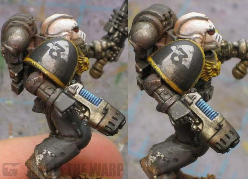 Using A Standard Pencil For Weathering Miniature Painting Weather Space Marine